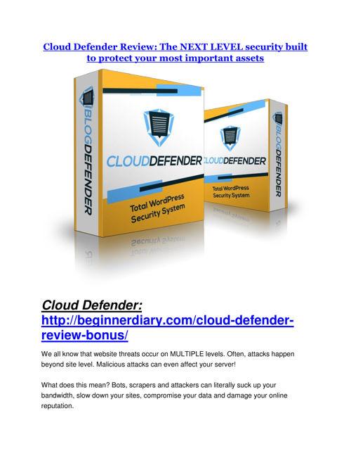 Cloud Defender Review-(Free) bonus and discount