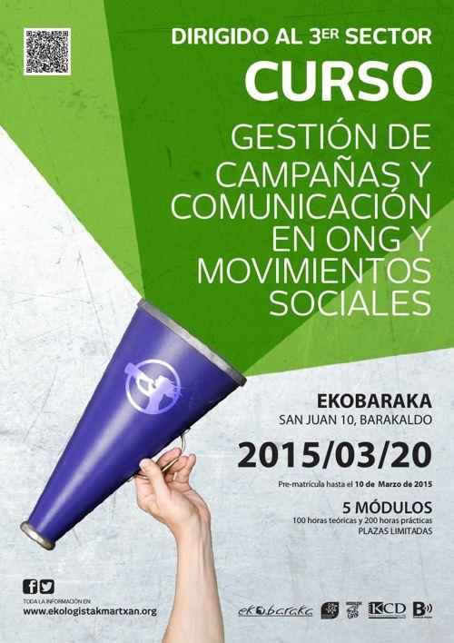 Gestión de campañas y comunicación en ONG y movimientos sociales