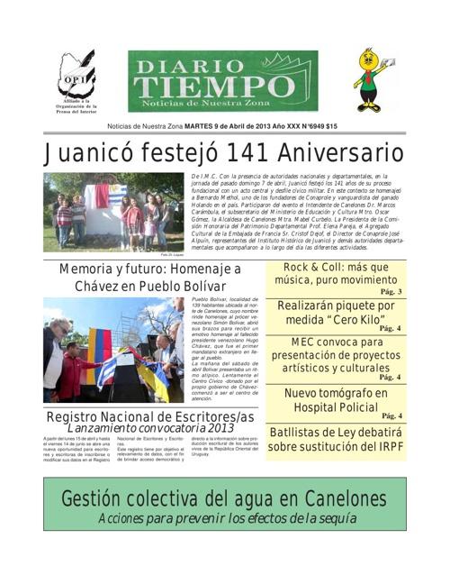 Diario Tiempo - 9 de Abril de 2'013