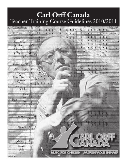 Orff Canada Teacher Training Course Guidelines