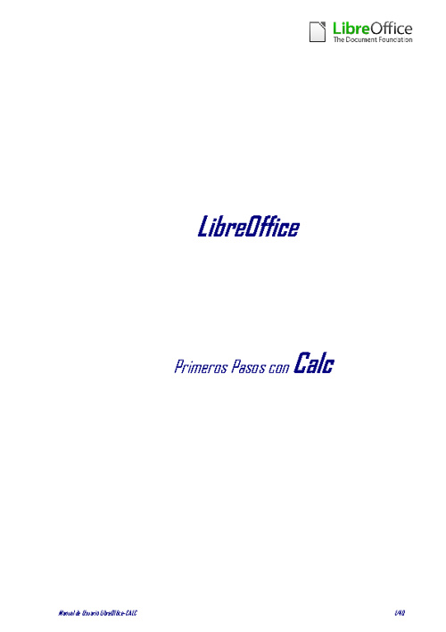 LibreOffice - Manual Usuario Calc
