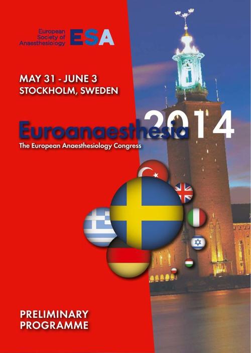 Euroanaesthesia 2014.
