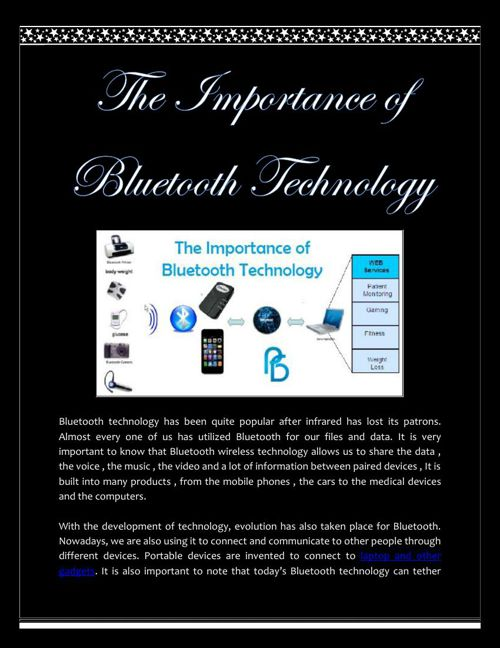 The Importance of Bluetooth Technology