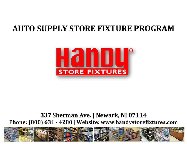 Handy Store Fixtures Auto Supply Store Catalog