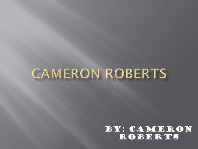 cameron roberts