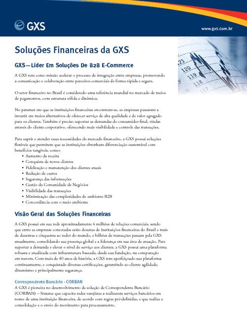 Serviços Financeiros GXS