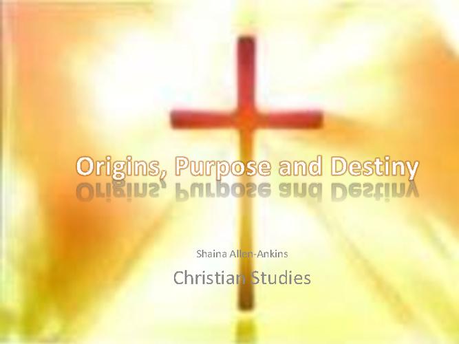 Christian Studies 2012