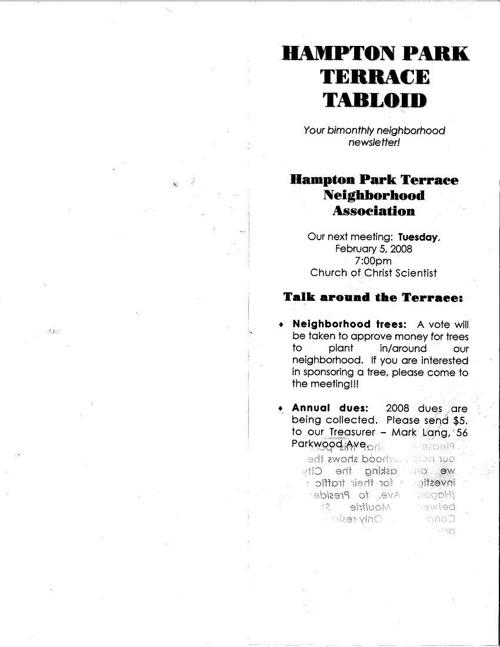 HPT Newsletter February 2008