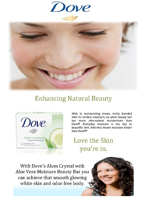 Dove Alum Crystal with Aloe Vera Beauty Bar Soap
