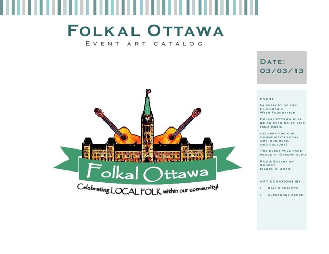 Folkal Ottawa - Event Art Catalog