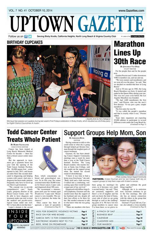 Uptown Gazette  |  October 10, 2014