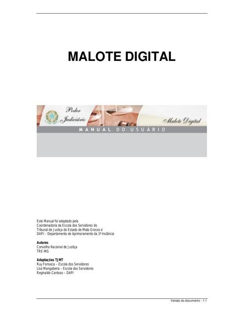Manual do Malote Digital