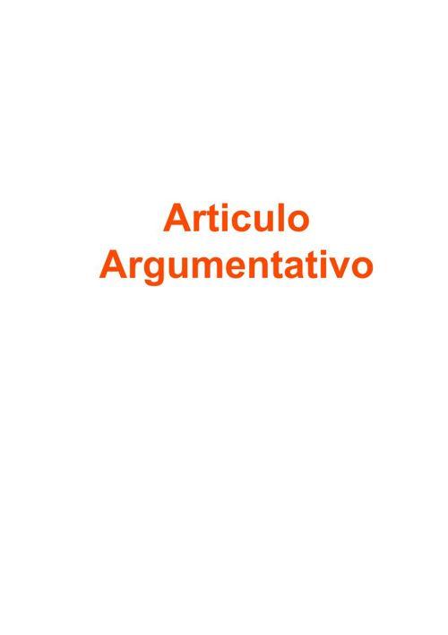 articulo argumentativo