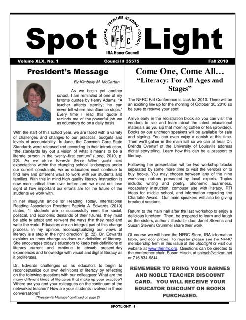 NFRC Spotlight_Fall 2010