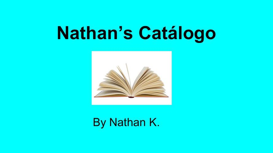Catalog Project - NATHAN KUNSTMAN