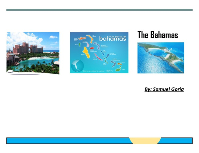Travel Brochure to The Bahamas!