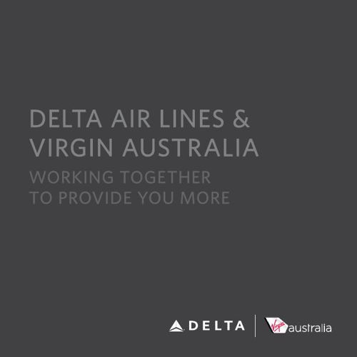 Delta Air Lines & Virgin Australia