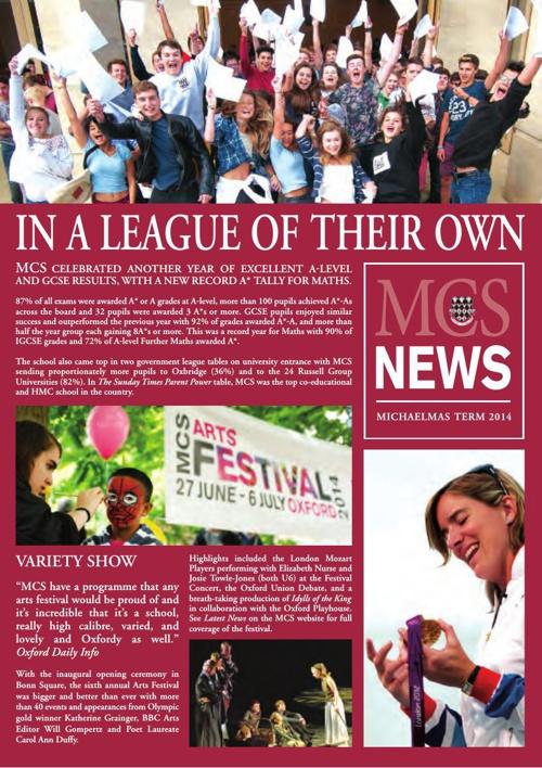 MCS News Michaelmas Term 2014