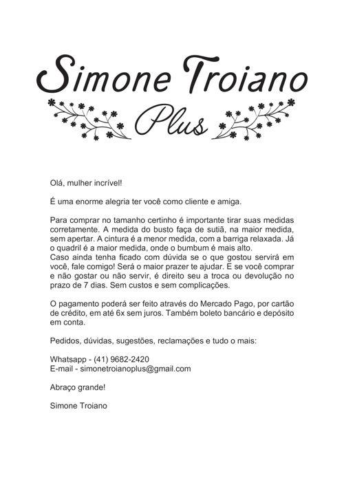 Catálogo Primavera-Verão Simone Troiano Plus