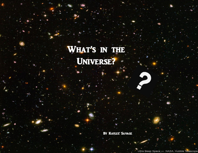 What's in the Universe?