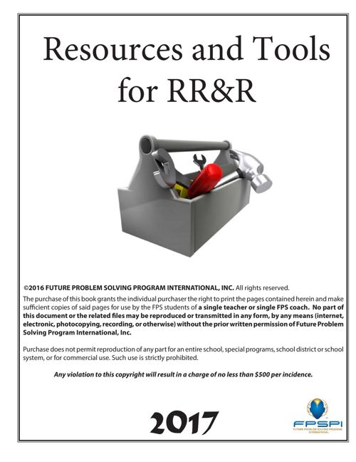 2016-17 RRR Resources and Tools