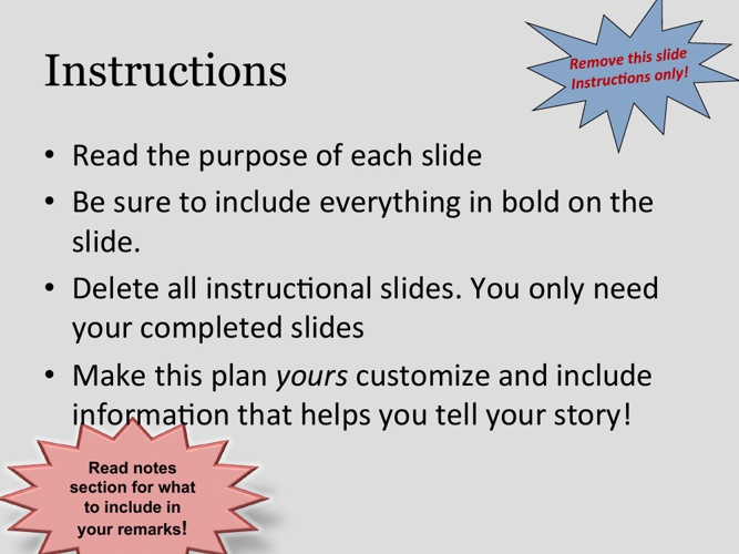NFTE Powerpoint Business Plan Template