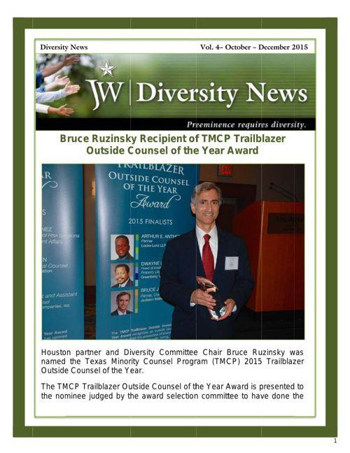 JW Diversity News - Vol 4 - 2015