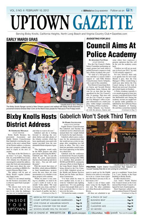 Uptown Gazette     February 10, 2012