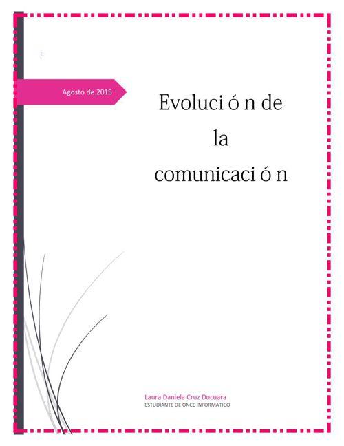 Evoluciona de la comunicación
