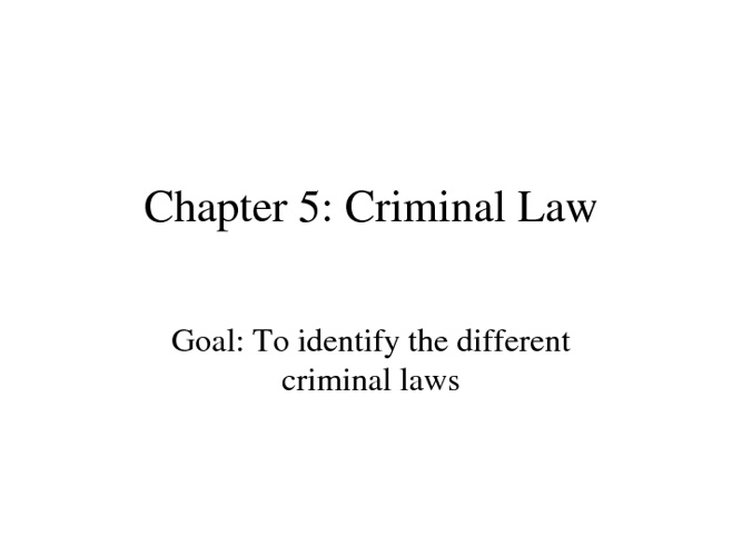 Law Chapter 5
