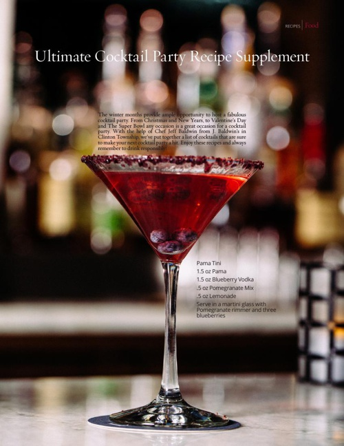 2015 Ultimate Cocktail Party Recipe Supplement