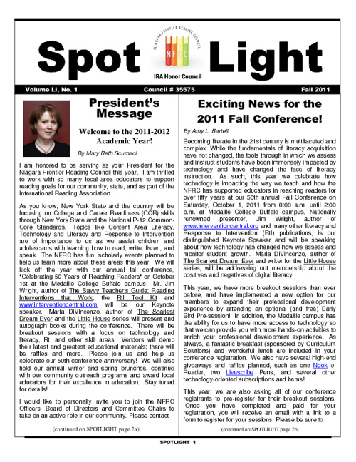 NFRC SPOTLIGHT Fall 2011
