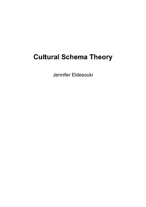 Cultural Schema Theory