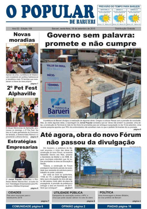 108ª edição do Jornal Popular de Barueri