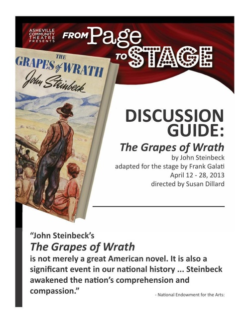 Grapes of Wrath Discussion Guide