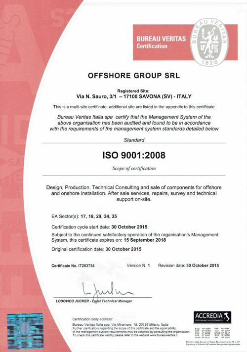 Offshore Group - Certificates