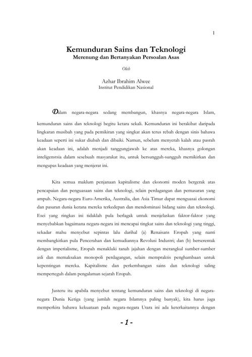 Nota Tam AA 209-Kemunduran Sains dan Teknologi