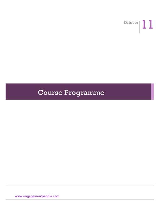 Course Programme