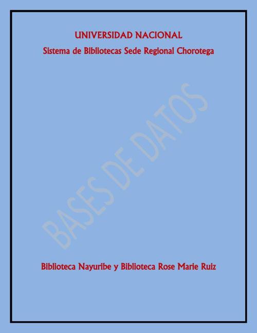 Copy of Bases de datos UNA
