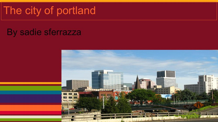 The city of portland