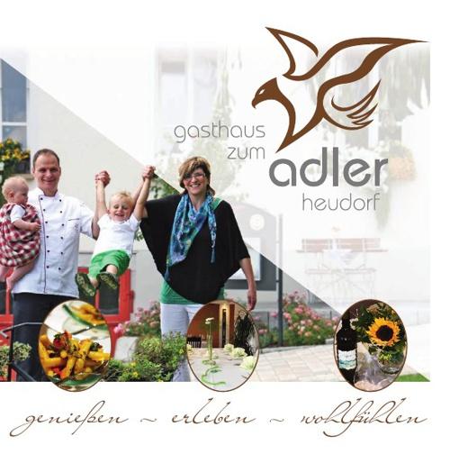 Flyer Gasthaus zum Adler Heudorf
