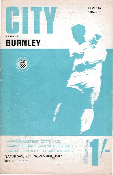 City v Burnley 25 November 1967