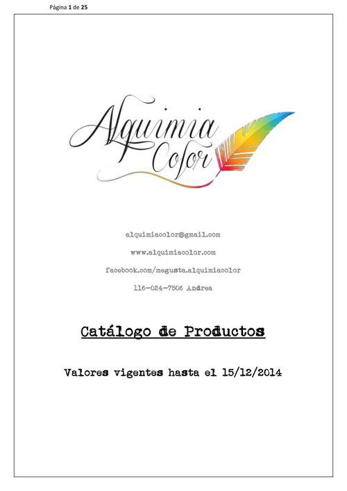 CATALOGO PRODUCTOS ALQUIMIACOLOR