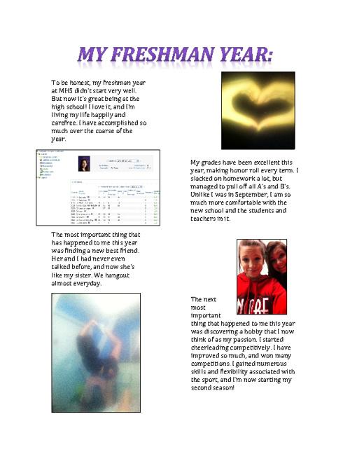 My Freshman Year at MHS