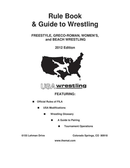 Wrestling Rule Book 2012