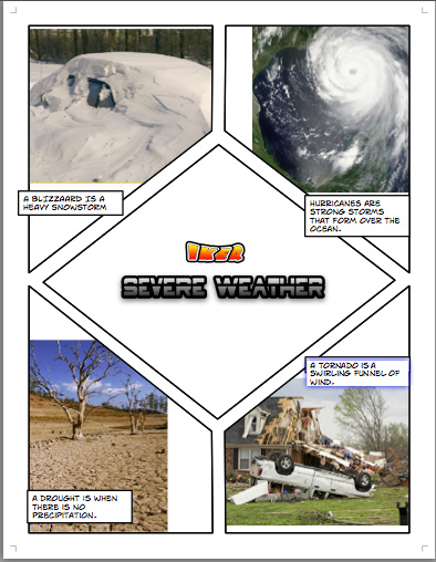 2nd Grade Weather ComicLife