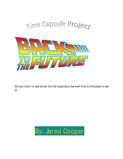 Microsoft Word - Final Time Capsule Project