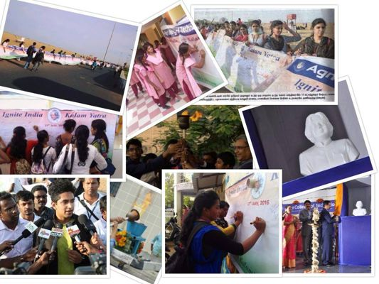 kalam yatra, a month-long signature campaign by Agni Foundation.