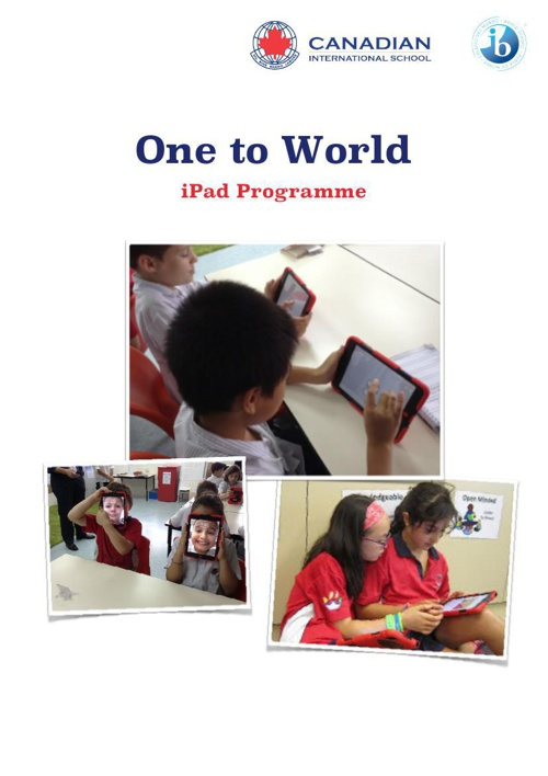 One to World iPad Brochure