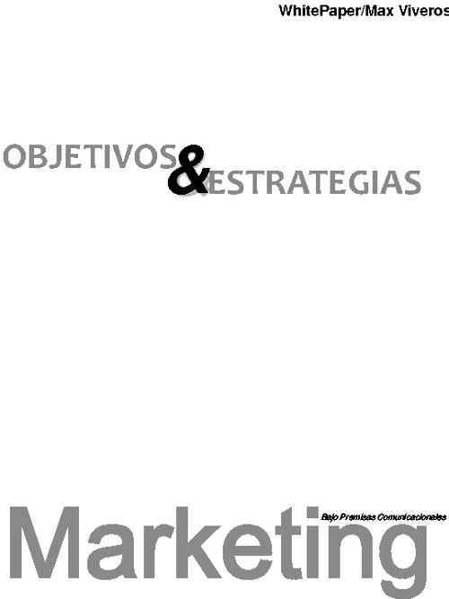 Objetivos y Estrategias de Marketing White Paper